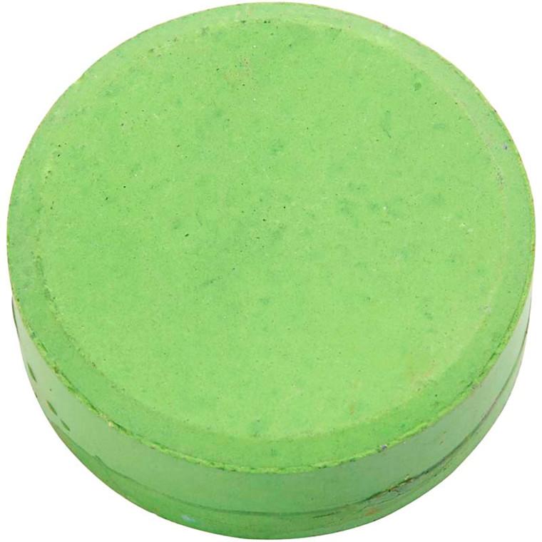 Vandfarve, dia. 57 mm, grøn, refill, 6stk.