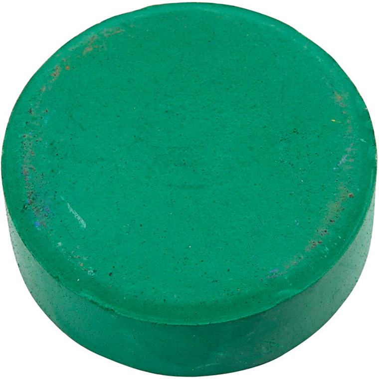 Vandfarve, dia. 57 mm, mørk grøn, refill, 6stk.