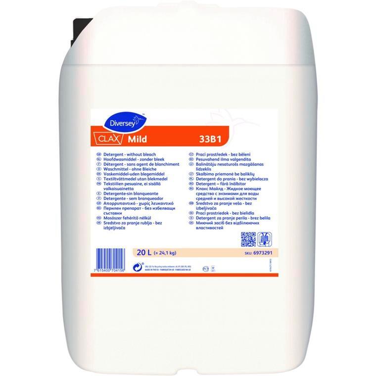 Vaskemiddel, Clax Mild 33B1, til automatisk doseringsanlæg, 20 l,