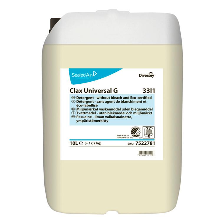 Vaskemiddel, Clax Universal G, til mopper og klude, 10 l,
