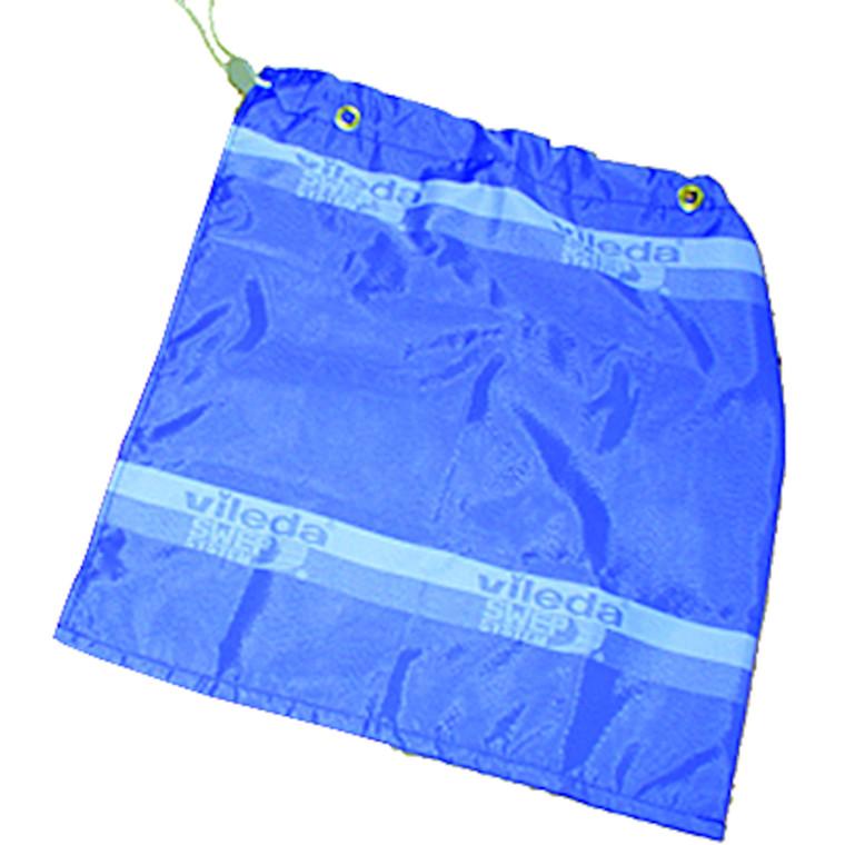 Vaskepose, Vileda, blå, med øskner, til Vileda vogn, L63 cm x B58 cm
