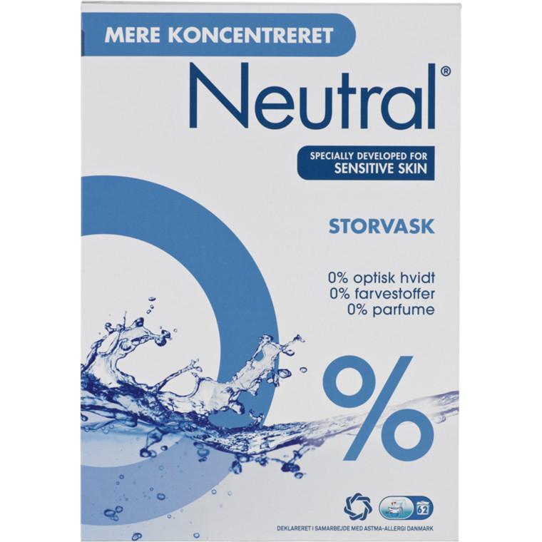 Vaskepulver til storvask Neutral uden farve og parfume - 5,2 kg