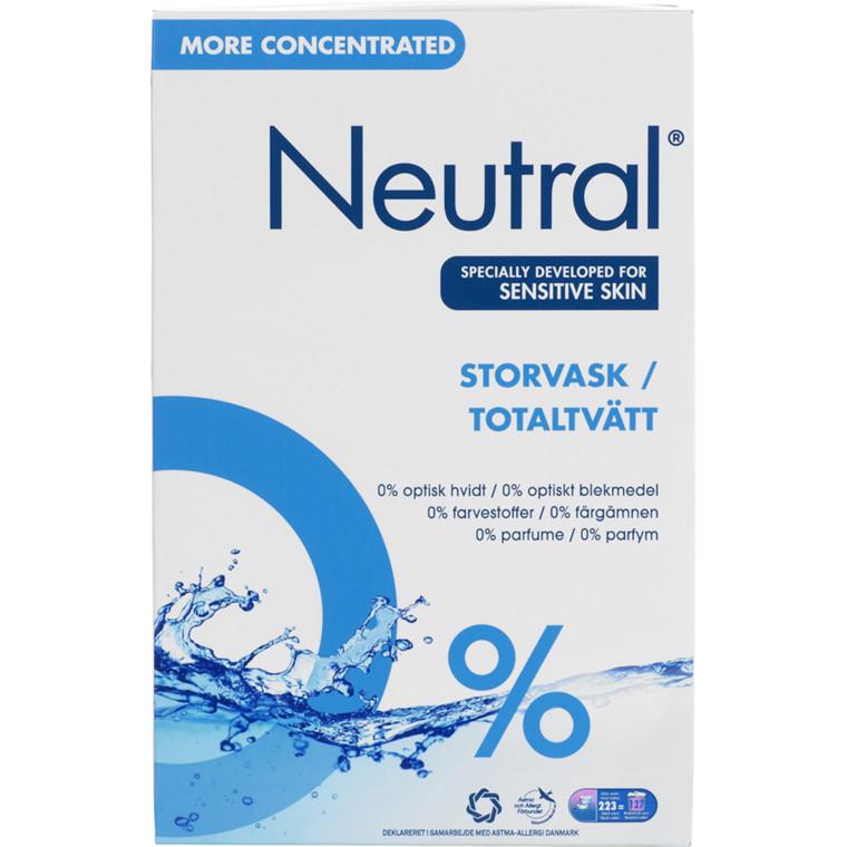 Vaskepulver til storvask Neutral uden farve og parfume - 8,9 kg