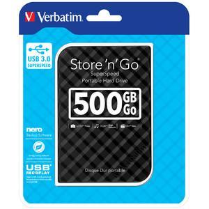 Verbatim 500GB Hard Drive 2,5'' Store N Go black