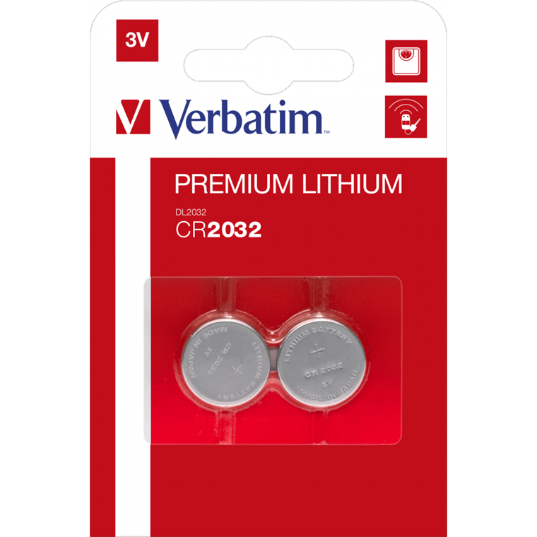 Verbatim Lithium Battery Cr2032 3V 2 Pack