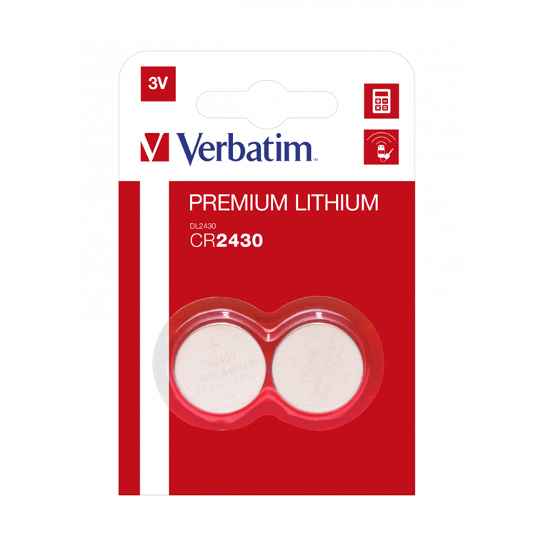 Verbatim Lithium Battery Cr2430 3V 2 Pack