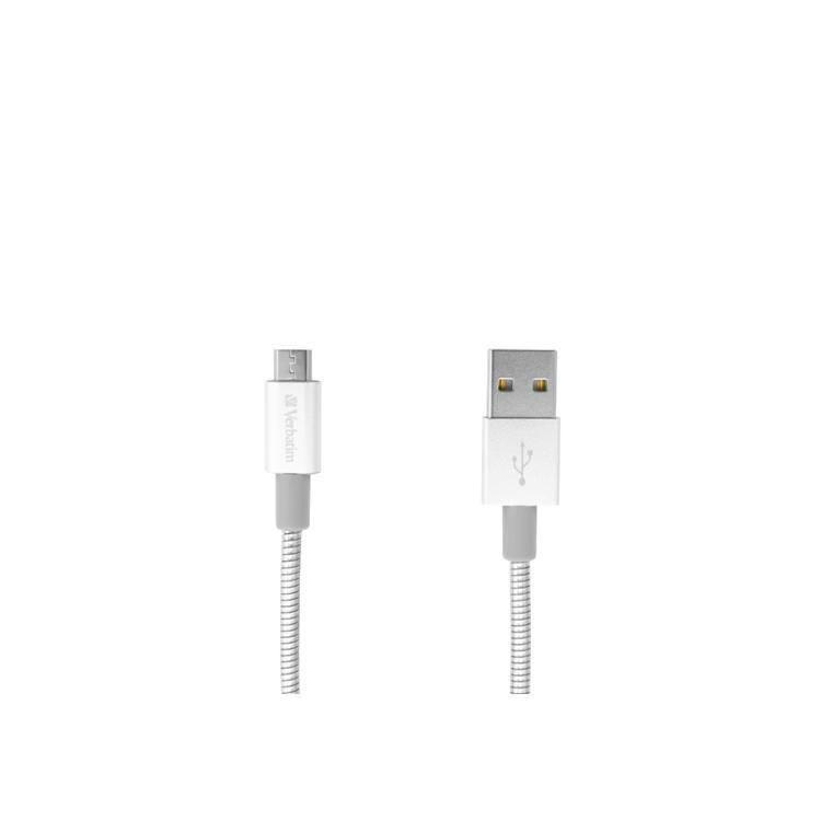Verbatim Micro B USB Cable Sync & Charge 30Cm Silver