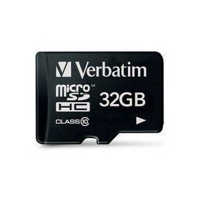Verbatim Micro SDHC Card 32GB Class 10 with adaptor