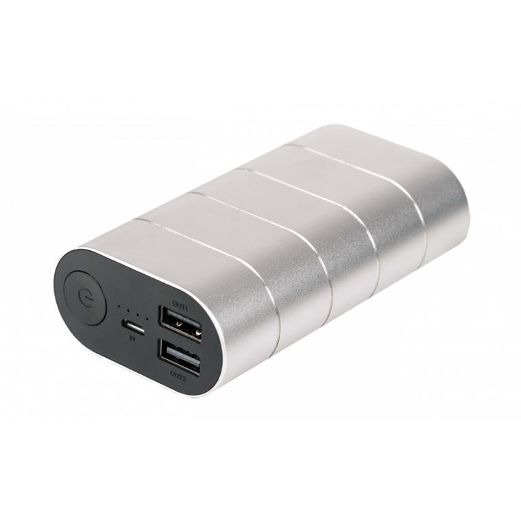 Verbatim Powerbank 10000Mah Grey/Silver Metal