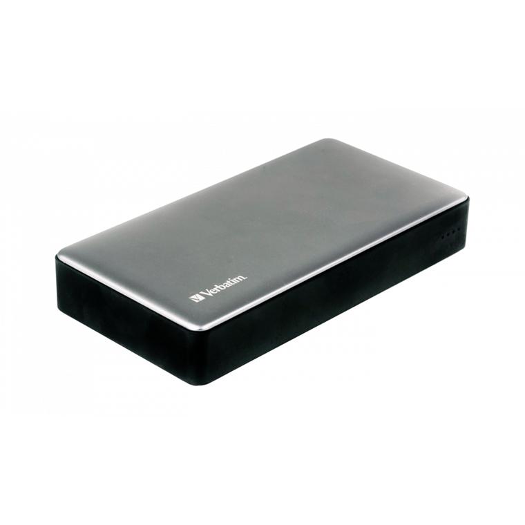 Verbatim Powerbank 10000Mah Silver Metal Qc3 & USB-C
