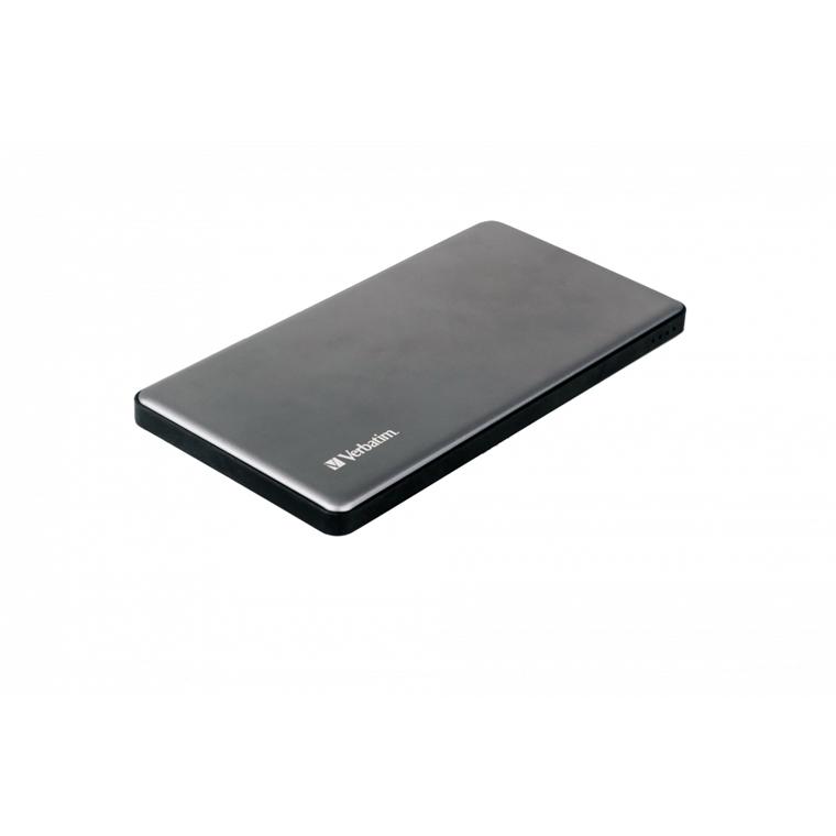 Verbatim Powerbank 5000Mah Silver Metal