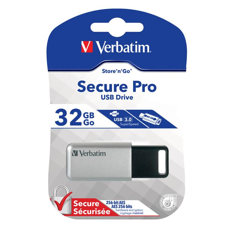 Verbatim USB 3.0 Drive 32GB Secure Data Pro