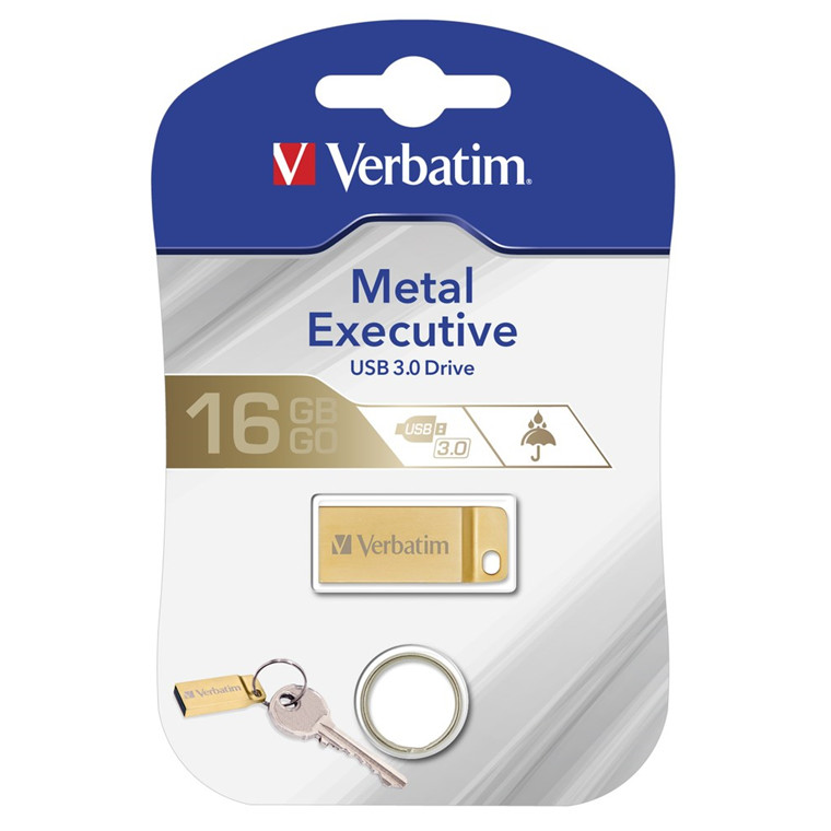 Verbatim USB 3.0 Metal Executive 16GB, Gold