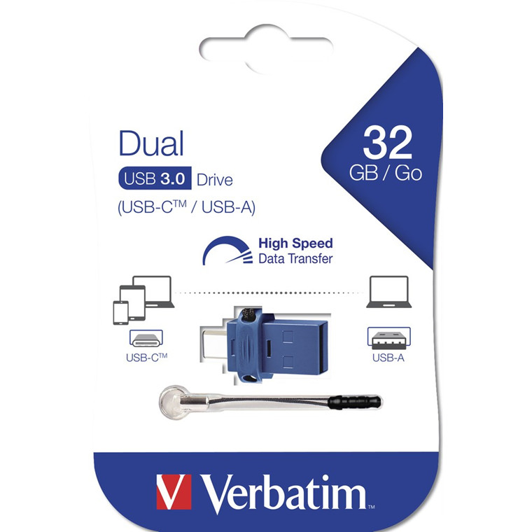 Verbatim USB 3.0 Store 'N' Go Dual Drive / USB-C 32GB, Black