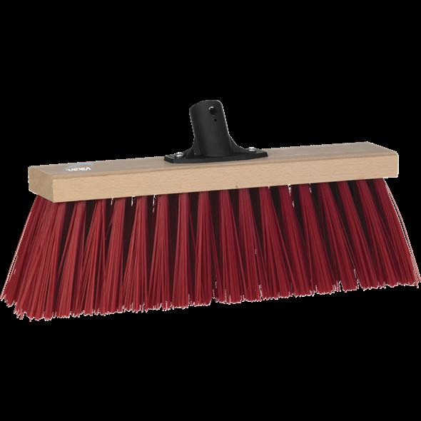 Vikan 2517 Træ Gadekost - Med gevind til skaft - Længde: 380 mm - Stive børster