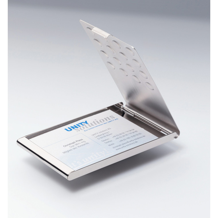 Visitkortholder i krom - Til 20 visitkort max 95 x 58 mm 2440-23