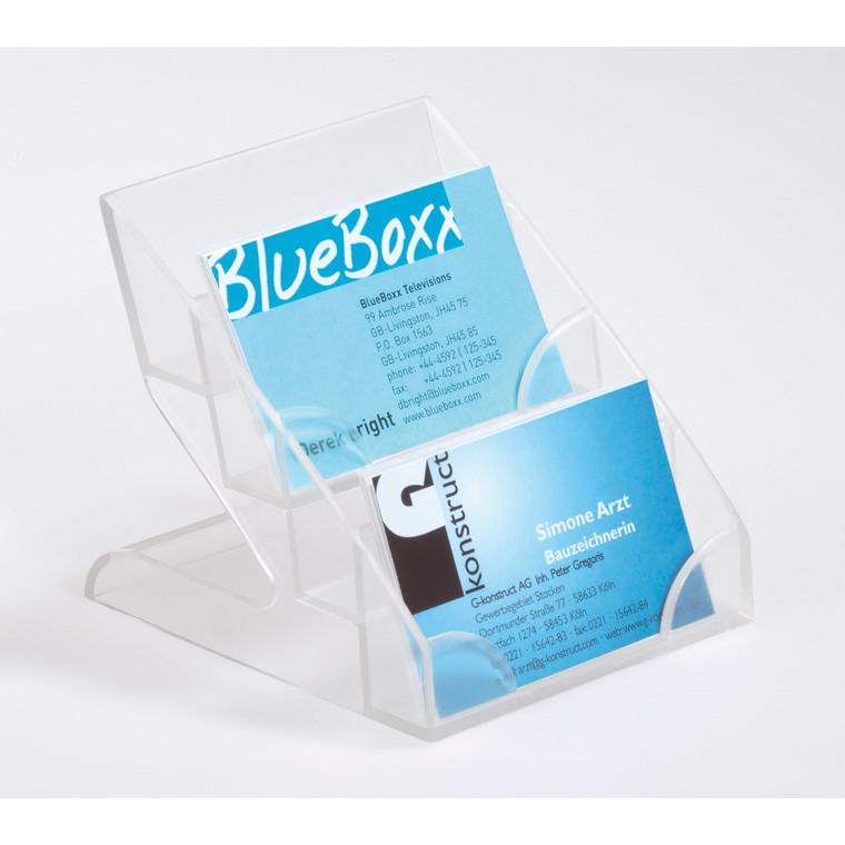 Visitkort display med 4 rum - til 240 visitkort Durable