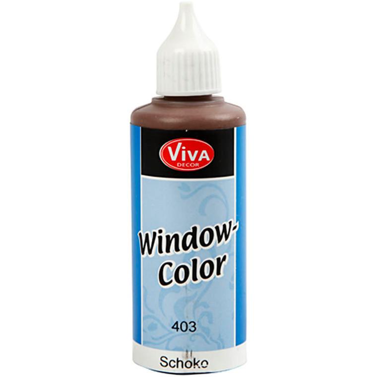 Viva Decor Window Color, chokolade, 80ml