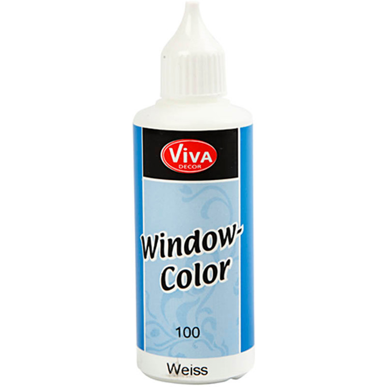 Viva Decor Window Color, hvid, 80ml