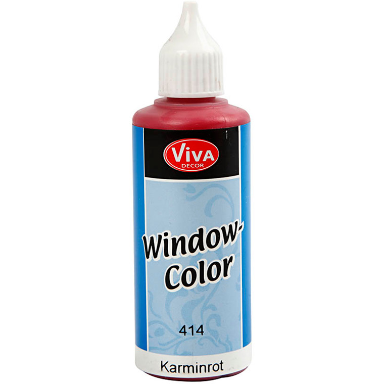 Viva Decor Window Color, karmin rød, 80ml
