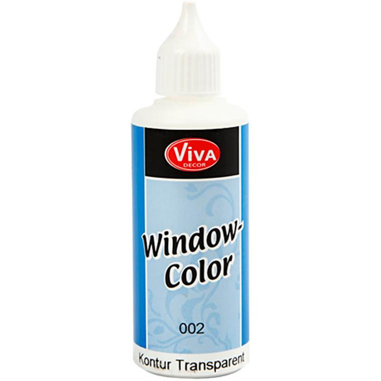 Viva Decor Window Color - konturfarve, transparent, 80ml