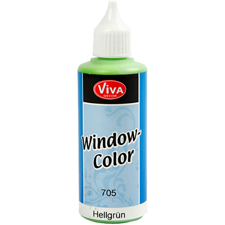 Viva Decor Window Color, lys grøn, 80ml