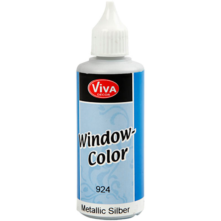 Viva Decor Window Color - metallic, sølv, 80ml