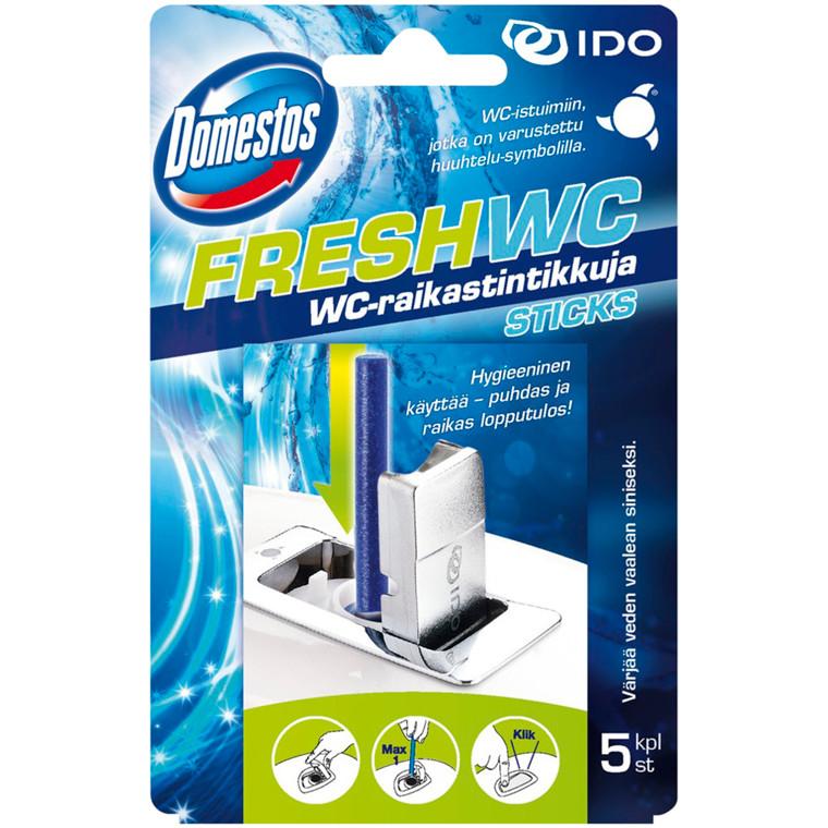 WC frisker, Domestos, Hav Frisk, 5 sticks pr. æske, blå,