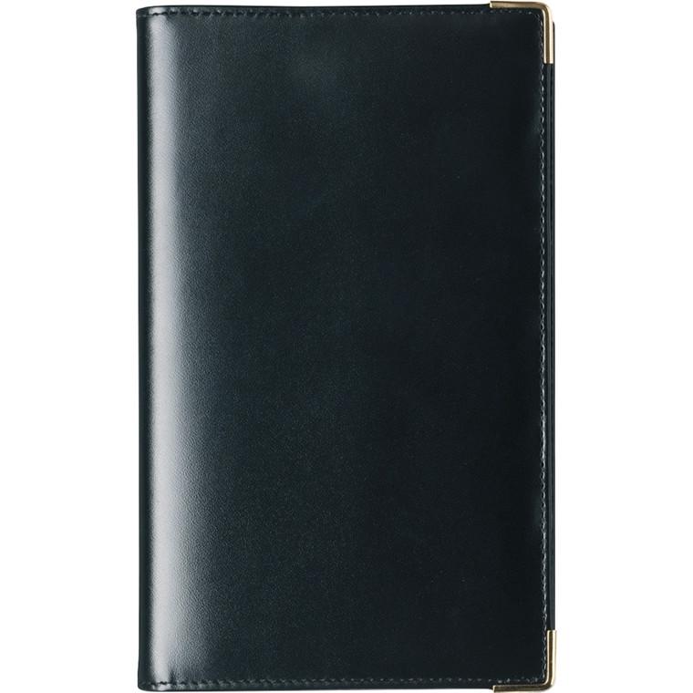 Weekplanner skind sort 9,5x17cm tværformat 20 0851 00
