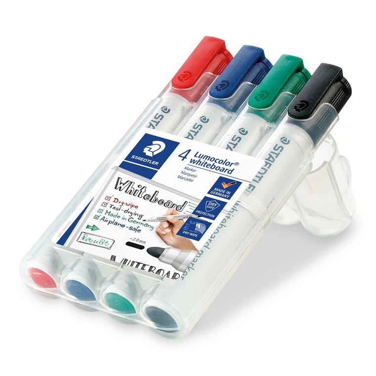 Whiteboard tusser sæt - Lumocolor 351 WP4 med 4 tusser