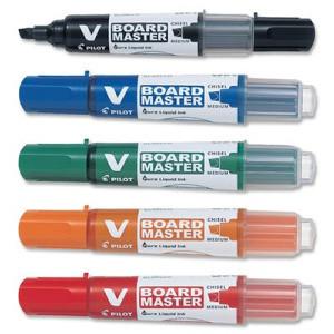 Whiteboard penne sæt - med 5 Pilot penne ass. skrå spids 1,8 x 5,2 mm