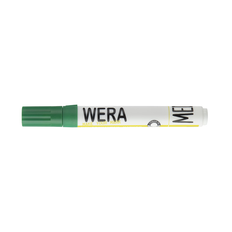 Whiteboardmarker WERA grøn kantet spids 1-4mm