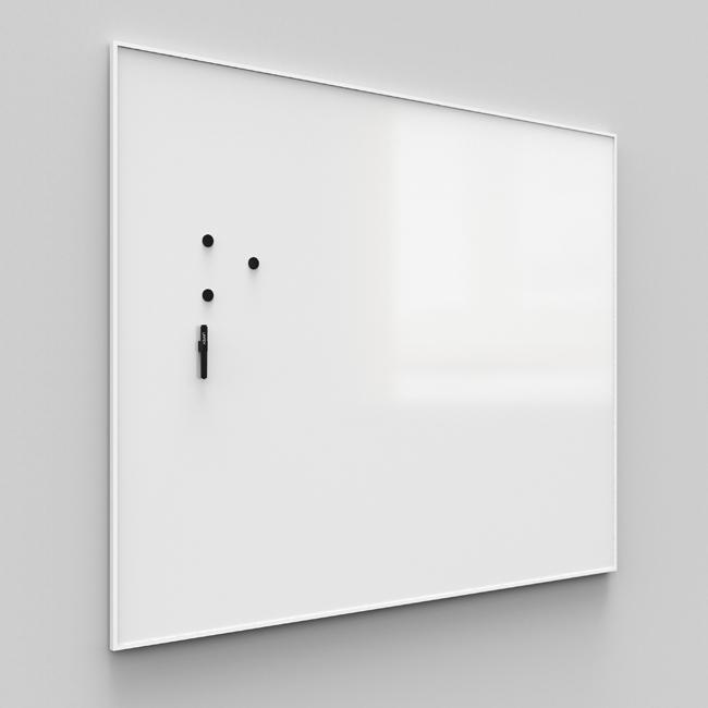 Whiteboardtavle - Lintex ONE med hvid aluramme 100 x 120 cm