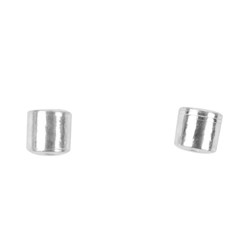 Wireklemme, dia. 2 mm, sterling sølv, SS, 50stk.