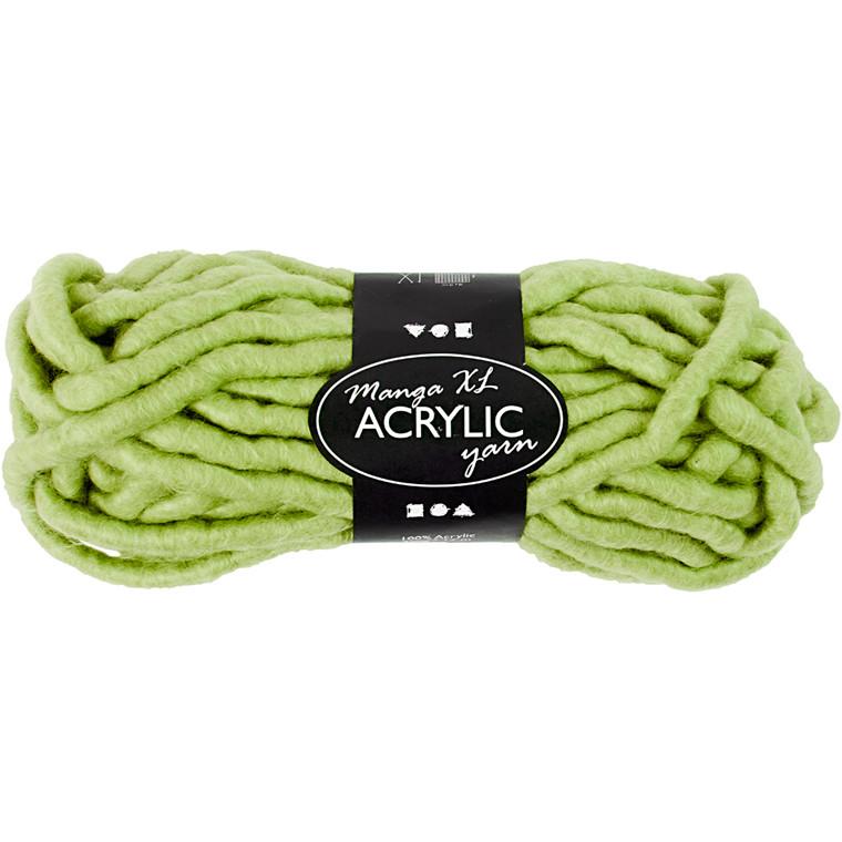 XL kæmpegarn af akryl længde 17 meter lime grøn manga - 200 gram