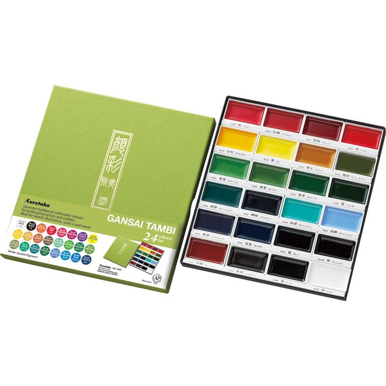 ZIG GANSAI TAMBI Aquarel 24 colour set