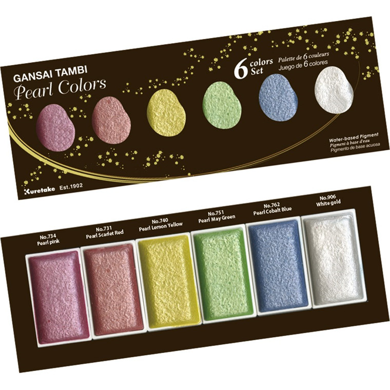 ZIG GANSAI TAMBI PEARL COLORS 6 colors set
