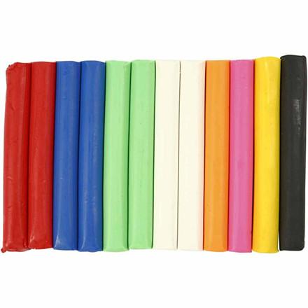 Modellervoks sæt med 8 forskellige farver - I alt 200 gram