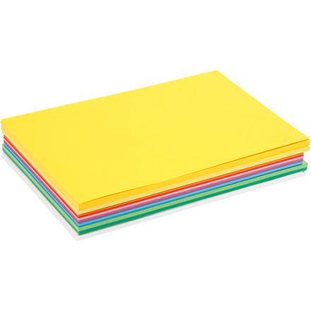 Forårskarton A4 21 x 30 cm 180 gram assorteret farver - 30 assorteret ark
