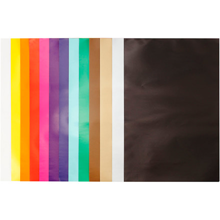 Glanspapir 13 assorterede farver størrelse 24 x 32 cm 80 gram - 50 ark
