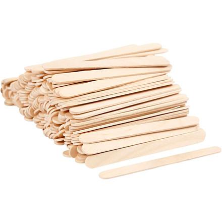 Ispinde længde 11,5 cm bredde 10 mm - 200 stk træ ispinde