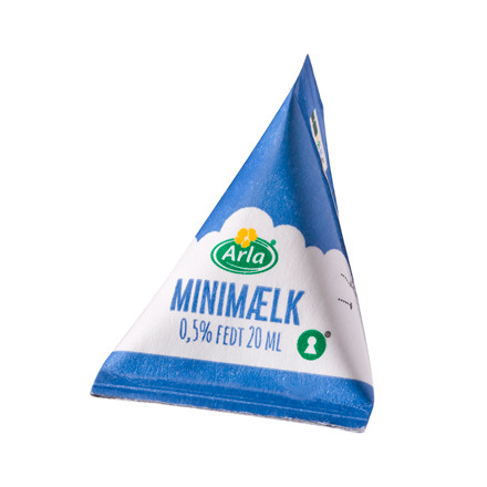 Kaffemælk Mini mælk 0,5% fedt - 20 ml i en brik - 100 stk.