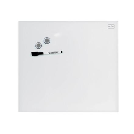 Magnettavle Nobo Diamond Glassboard - Hvid 45 x 45 cm