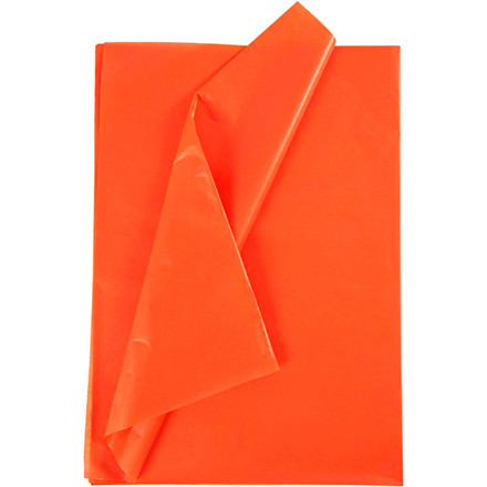 Silkepapir, ark 50x70 cm, 17 g, orange, 25ark