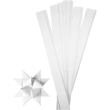 Stjernestrimler hvid Bredde 25 mm diameter 11,5 cm længde 73 cm | 100 stk
