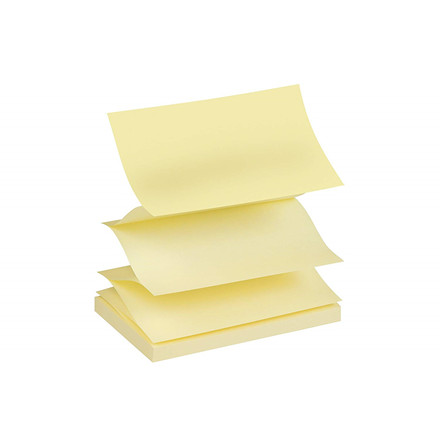 Post-it Z-Notes gul - 76 x 127 mm