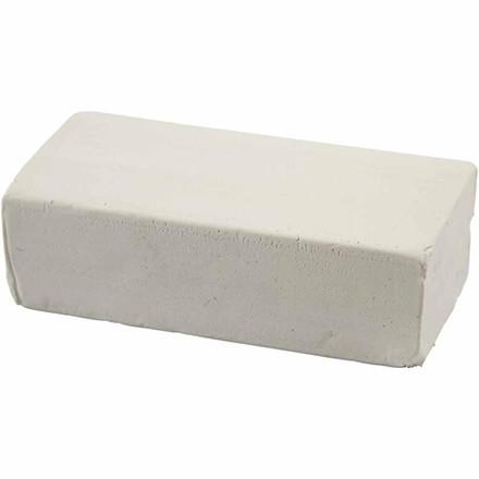 Modellervoks Soft Clay 13 x 6 x 4 cm hvid - 500 gram