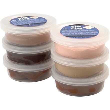 Silk Clay® hudfarver | 6 x 14 gram