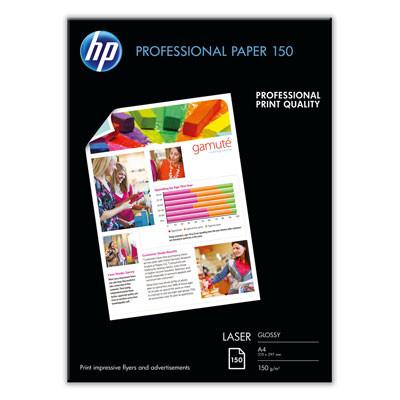 HP - A4 Professional glossy laser Foto papir 150 gram - 150 ark