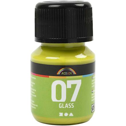 A-Color glas maling kiwi farve - 30 ml